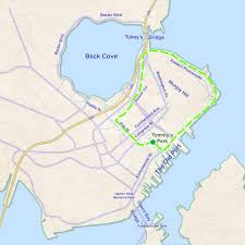 Portland Bridges Map by Run Eastern Promenade Trail To Bayside Trail