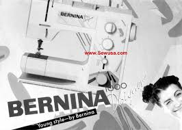 bernina instruction manuals