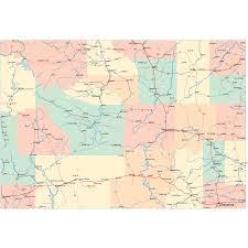 Wyoming Topo Map Wyoming Road Map Wy Road Map Wyoming Highway Map
