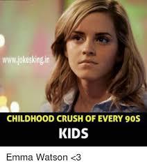 Emma Watson Meme - wwwjokeskingin childhood crush of every 90s kids emma watson 3