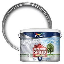 dulux weathershield pure brilliant white smooth matt masonry paint