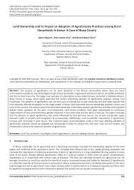cr it agricole si e social land ownership and its impact on adoption pdf available