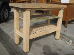 kitchen butcher block station island table solid wood carved