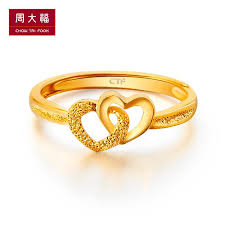 golden gold rings images Usd 245 51 chow tai fook jewellery heart print golden gold ring jpg