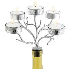 silver wine bottles silver wine bottle candelabras just in time for winter weddings