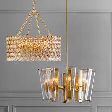Brushed Brass Chandelier Chandeliers Williams Sonoma