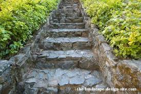 rock landscaping stairs