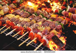 cuisine grill barbecuebarbqbarbeque grill food thailandmarket pork ภาพสต อก