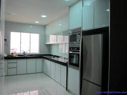 Changing Doors On Kitchen Cabinets Kitchen 3g Snow White With Aluminium Frosted Glass Granite Top