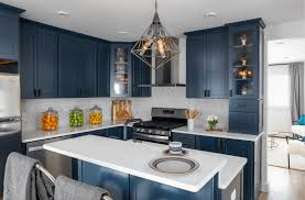 navy blue kitchen cabinet design kitchen trend navy blue cabinets mcgillivray