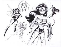 justice league unlimited wonder woman design sketches in laura