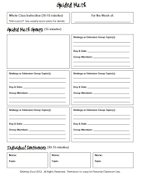 guided reading lesson plan template making guided reading