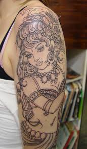 medusa portrait tattoo on thigh photo 1 photo pictures and