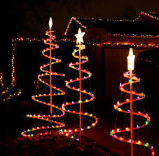 lighted outdoor decorations simple outdoor