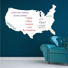 United States Wall Map by Us Map Dry Erase Wall Decal Modern Wall Decal Murals Primedecals