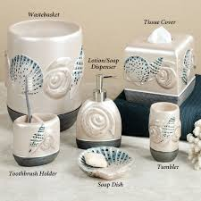 Peacock Bathroom Ideas by Bathroom Best Decoration Of Seashell Bathroom Accessories