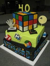 40th birthday cakes for men 80 u0027s theme google search 40th