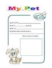 image result for esl my pet worksheet pets pinterest pet
