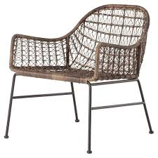 elani bazaar woven wicker outdoor club chair kathy kuo home