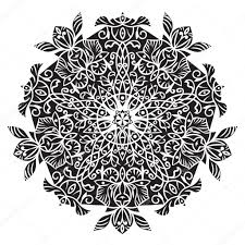 circular pattern islamic ethnic ornament for pottery tiles