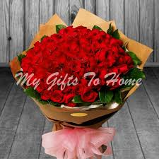 roses online 100 roses bunch gifts to pakistan
