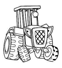 travis the tractor from bob the builder coloring page coloring sun