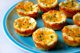 cheesy leftover mashed potato muffins just a taste