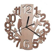 giftgarden tree shaped wall clock wood decorations