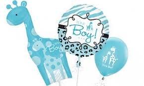 Wild Safari Blue Baby Shower by All Party Supplies Baby Showers Decorations Baby Shower