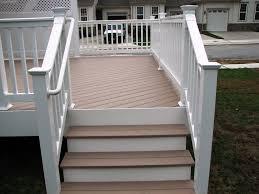 azek brownstone deck steps and longevity white pvc railing hnh