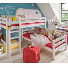Infans L Shaped Bunk Bed Whitewash Jellybean Ireland - Kids l shaped bunk beds
