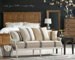magnolia home parlor settee in farmhouse bedroom setting