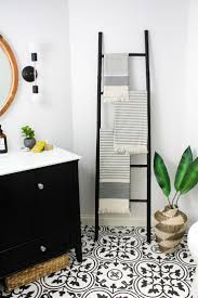 bathroom cool black and white tile bathroom decorating ideas