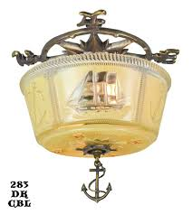 Nautical Ceiling Light Nautical Marine Ceiling Bowl Light Fixture Modernism