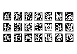 coloring page ornamental letters img 19024