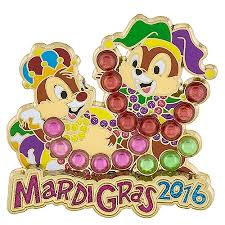 mardi gras pins mardi gras pin 2016 chip and dale