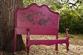 Shabby Chic Twin Headboard by Modernly Shabby Chic Furniture Raspberry And Black Whimsical Twin