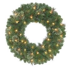 christmas garland battery operated led lights 24 in led battery operated wesley artificial spruce wreath with
