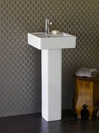 Bathroom Pedestal Sinks Ideas Special Bathroom In Neutral Tone Furniture Design Integrates