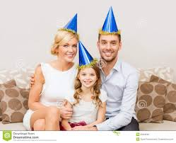 happy family in hats celebrating royalty free stock image image