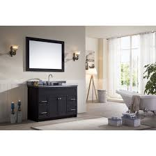 ace 49 inch transitional single sink bathroom vanity set in black