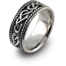 mens silver rings mens celtic rings shm sd1