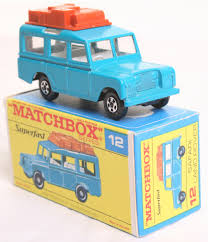 matchbox land rover scarce matchbox superfast 12 safari landrover with blue body thin