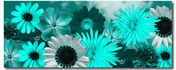 teal flowers teal awe inspiring teal flower canvas and