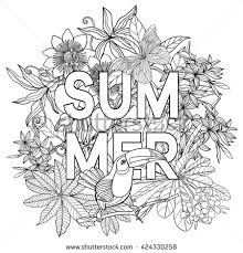 tropical beach coloring pages coloring book coloring page word stock vector 424330258