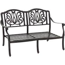 rosedown cast aluminum patio loveseat by lakeview outdoor designs