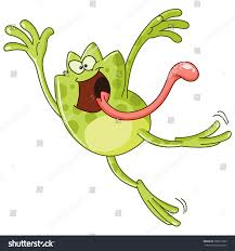 frog jumping sticking out tongue stock vector 368217989 shutterstock