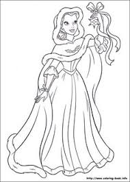 princess belle love gifts christmas coloring pages