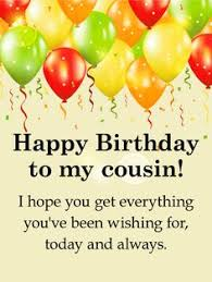 cousin birthday card to my sweet cousin happy birthday wishes card happy birthday