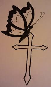 butterfly cross tattoo idea by virg on deviantart